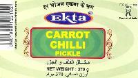 Ekta Carrot Green Chilli Pickle