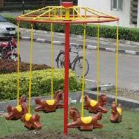 Kids Playground Equipment - Horse Seat Merry Go Round