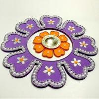 Foam Decorated Rangoli