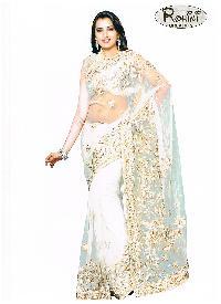 Cream Net Saree