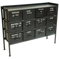 Industrial 12 Drawer Chest