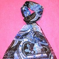 Fancy Printed Silk Stoles