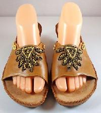 Leather Beaded Shoes