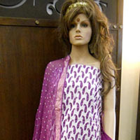 Bandhni Salwar, Cotton Printed Top