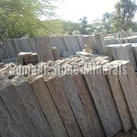 Indian Desert Brown Sandstone Block Steps(kerb Stone)