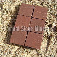 Wet Mandana Red Sandstone Cobbles