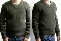 military v neck sweater