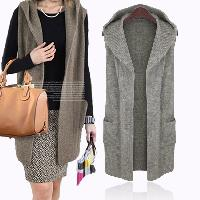 Sleeveless Cardigan Sweater