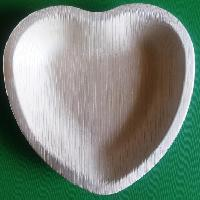Areca Palm Leaf Heart Shape Plates