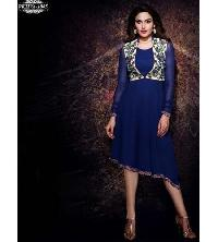 Georgette Embroidered Frock Style Kurti