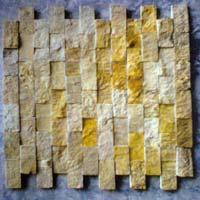 Gold Ita Mosaic, Natural Stone, Emerald Green Marble