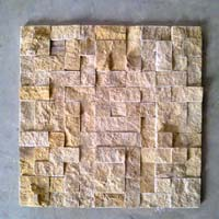 Ita Gold Send Blast Mosaic, Natural Stone, Brown Rain Forest Marble