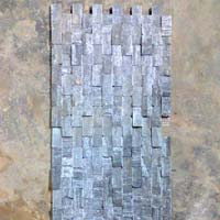 Slate Black Mosaic, Natural Stone, Ivory Brown Marble