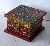 wood painted box