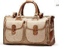 Khaki Twill Weekender Bag