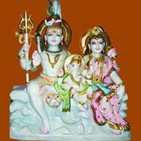 Marble Murti Lord Shiva Parvati Statues Marble