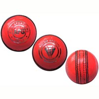 Pink Leather Cricket Ball