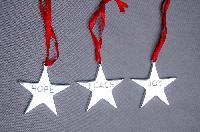 Hanging ( Alimunium Christmas Item )
