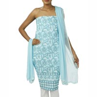 Lucknowi Chikan Embroidered Unstitched Suit