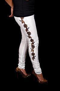 Rayon Embroidered Leggings