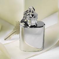 Metal Steel Key Ring Mini Hip Flask