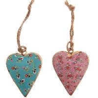 Vintage Hanging Heart Ornament