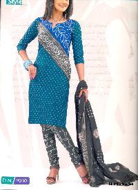 Designer Cotton Suit Dupatta Salwar Kameez Dress Materials
