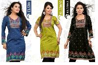 Fancy Cotton,  American Crepe Casual Kurtis