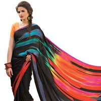 Designer Printed Georgette Saree For Party Wear