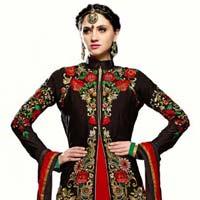 Exclusieve Designer Semi Stiched Georgette Salwar Suit