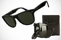 Wayfarer style folded sunglasses for luxoury people