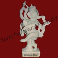 Ganesh Ji Statues- White Marble