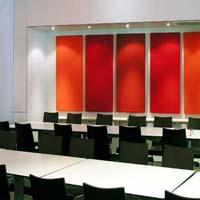 Fabric acoustic wall panels