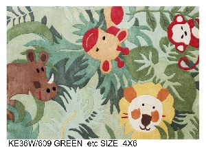 Hand Tufted New Zealand Blended Woolen Carpets & Rugs