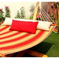 Quilted Hammock-red & Yellow