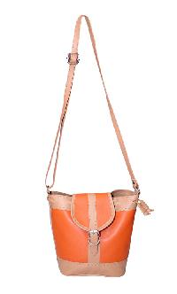 Essart P.U. Leather Women Sling bag- 71174-Orange