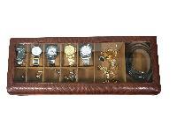 Essart PU Leather Textured print Desinger Sunglasse cum Watch Box .