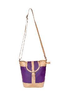 Essart PU Leather Women Sling Bag--71174-Purple