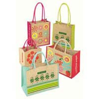 Multicolor Jute Shopping Bags