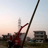 Heavy Duty Pole Erection Machine