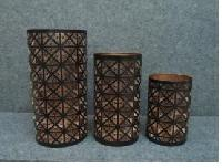 Iron Pillar Candle Holder Set
