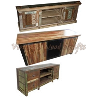 Antique Wooden TV Unit