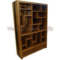 Wooden Bookshelf With Mix Match Pattern