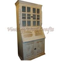 Wooden Bookshelf with White Finish