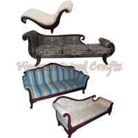 Wooden French Sofa