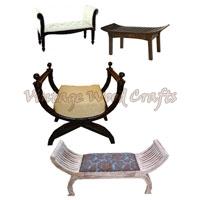 Wooden Roman Style Single Seater Sofa