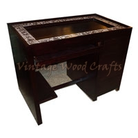 Wooden Study Table with Patch of Handwork