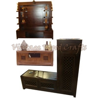 Wooden TV Unit with Traditional Touch
