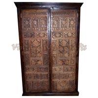 Wooden Wardrobe with Hand Work