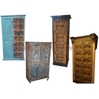 Wooden Wardrobe with Old Gates